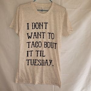 American apparel Taco Tuesday tee shirt Size Small